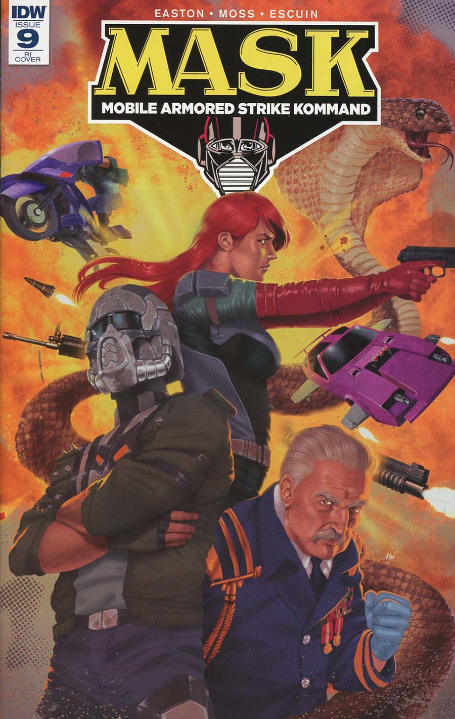 M.A.S.K. Mobile Armored Strike Kommand #9 Cover D Incentive Marcelo Perez Dalannays Variant Cover