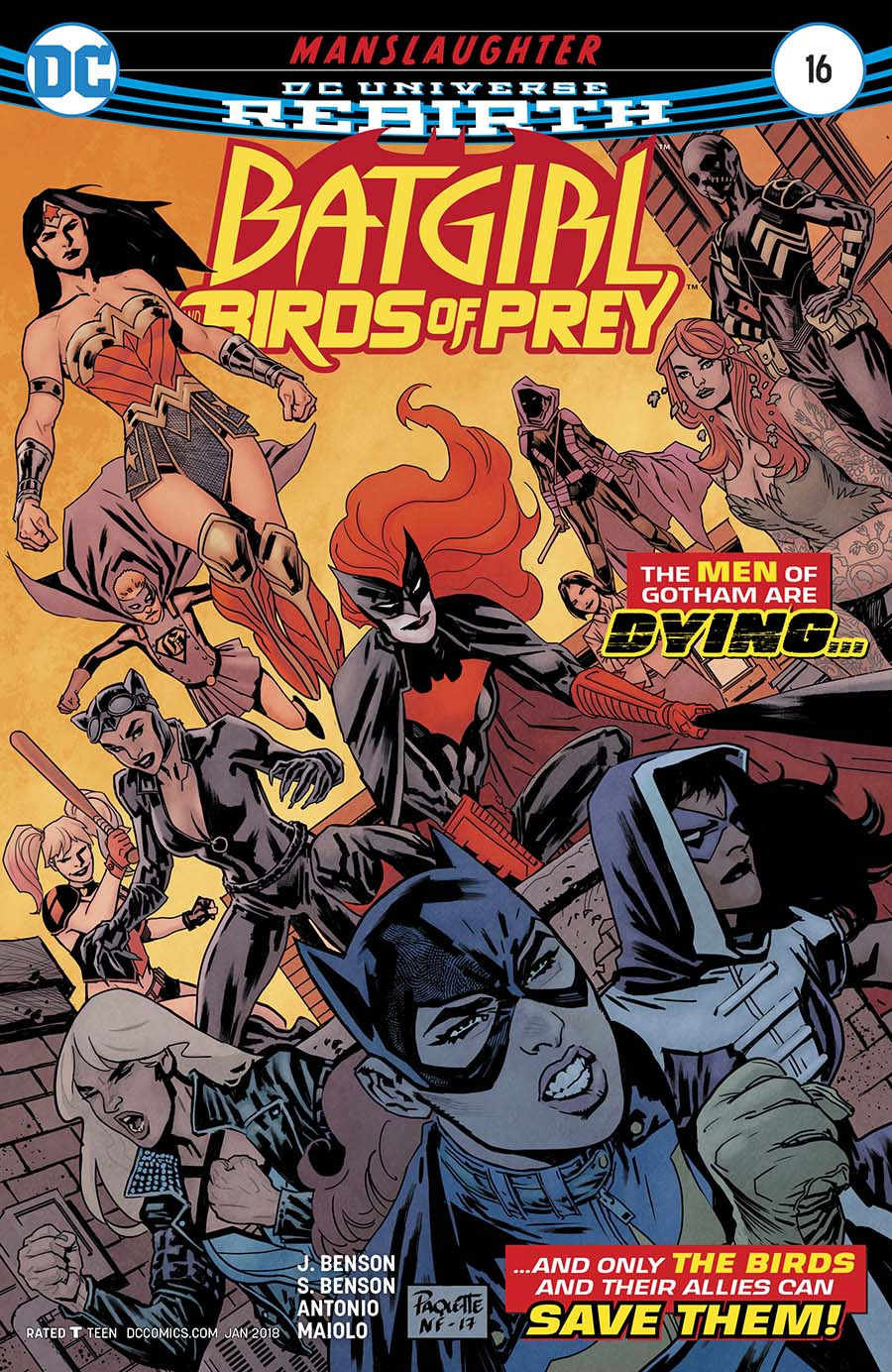 Batgirl And The Birds Of Prey #16 Cover A Regular Yanick Paquette Cover