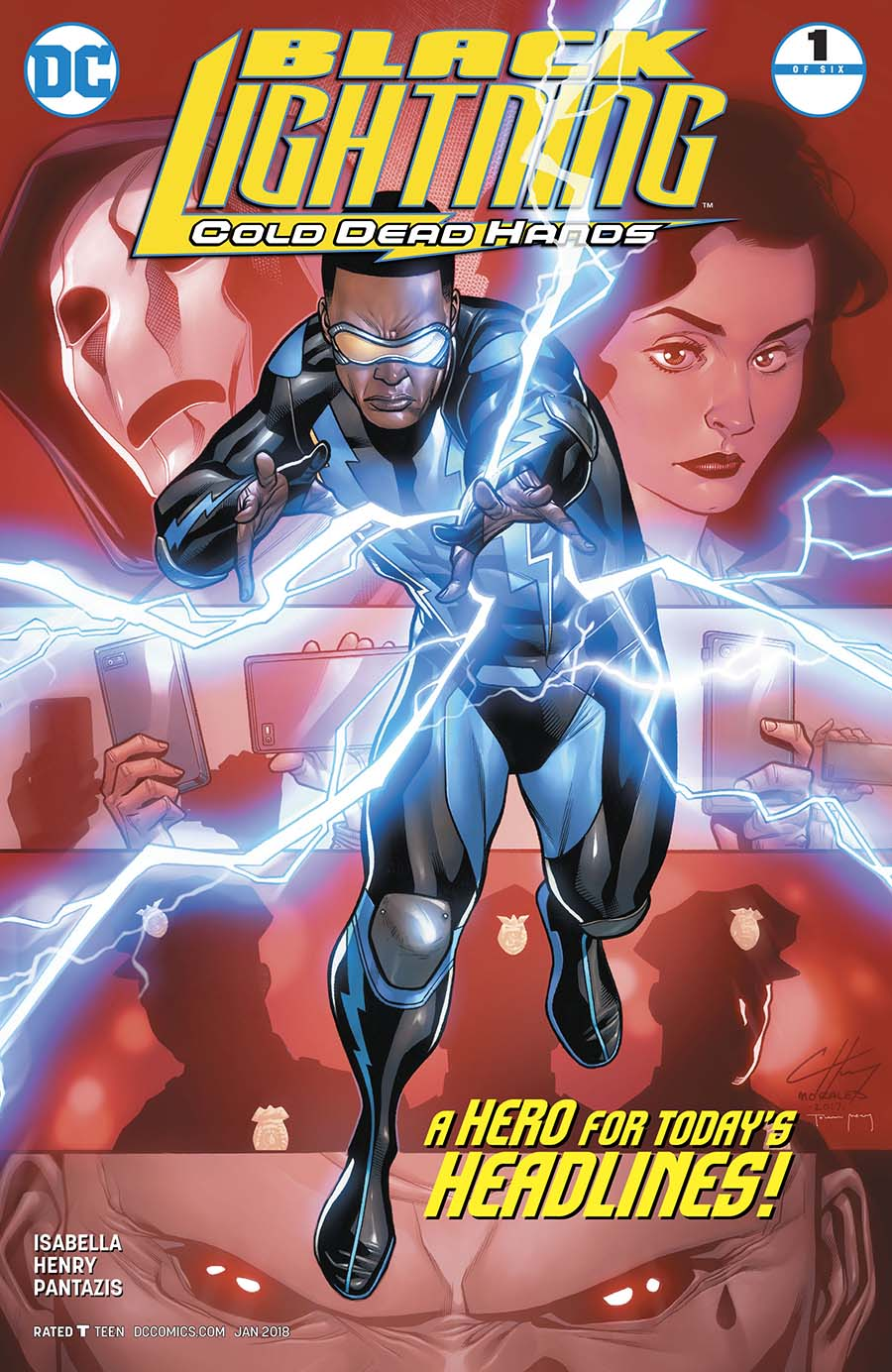 Black Lightning Cold Dead Hands #1 Cover A Regular Clayton Henry Cover