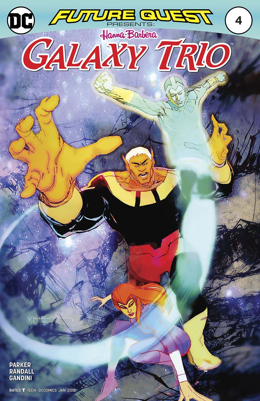 Future Quest Presents #4 Cover B Variant Bill Sienkiewicz Cover