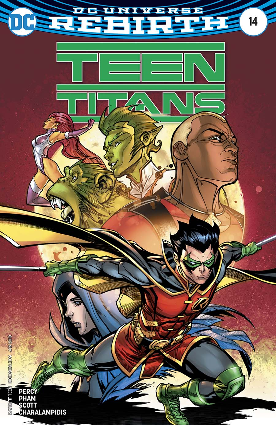 Teen Titans Vol 6 #14 Cover B Variant Chad Hardin Cover