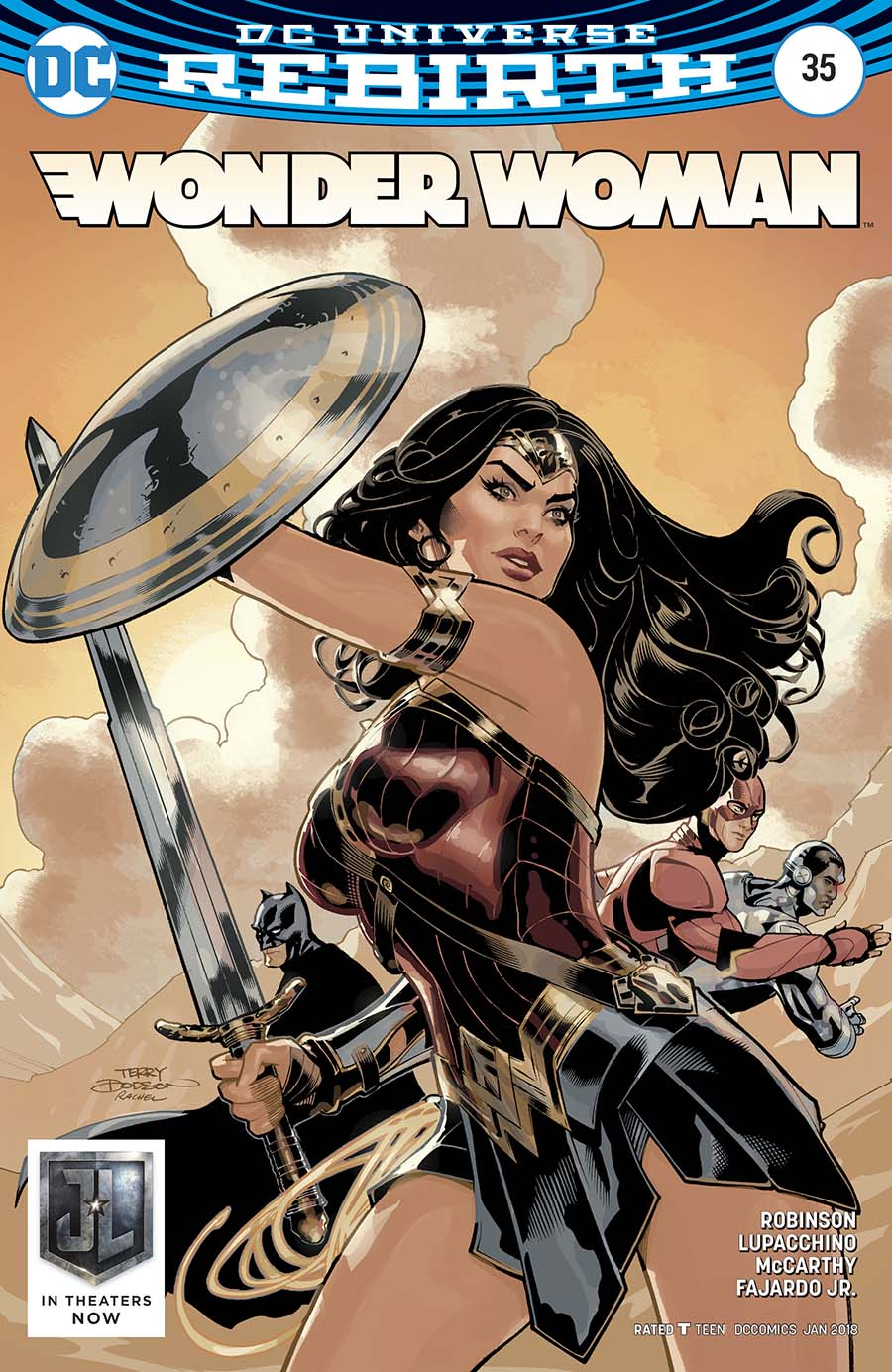 Wonder Woman Vol 5 #35 Cover B Variant Terry Dodson Justice League Movie Cover