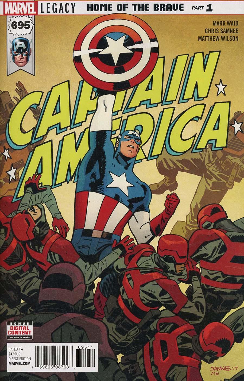 Captain America Vol 8 #695 Cover A 1st Ptg Regular Chris Samnee Cover (Marvel Legacy Tie-In)