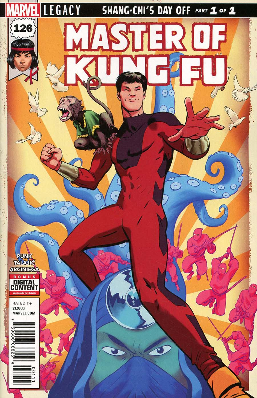 Master Of Kung Fu Vol 2 #126 Cover A Regular Javier Rodriguez Cover (Marvel Legacy Tie-In)