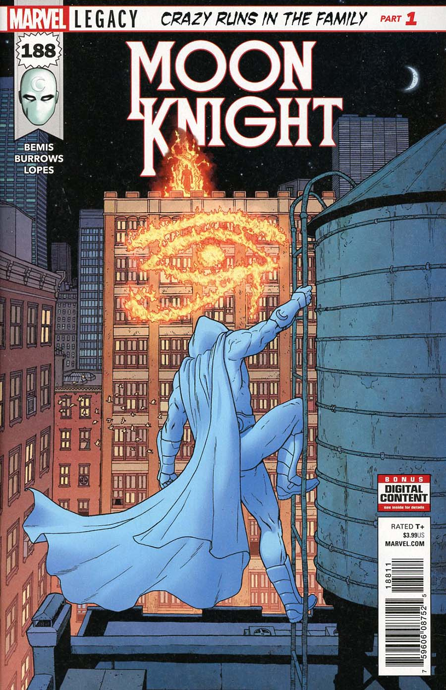 Moon Knight Vol 8 #188 Cover A Regular Jacen Burrows Cover (Marvel Legacy Tie-In)