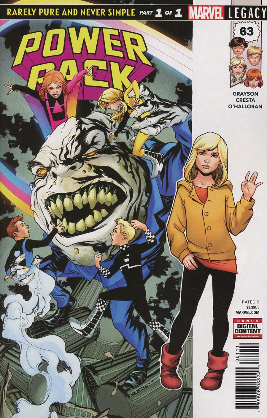 Power Pack Vol 3 #63 Cover A Regular Mike McKone Cover (Marvel Legacy Tie-In)