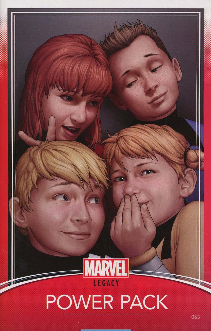 Power Pack Vol 3 #63 Cover B Variant John Tyler Christopher Trading Card Cover (Marvel Legacy Tie-In)