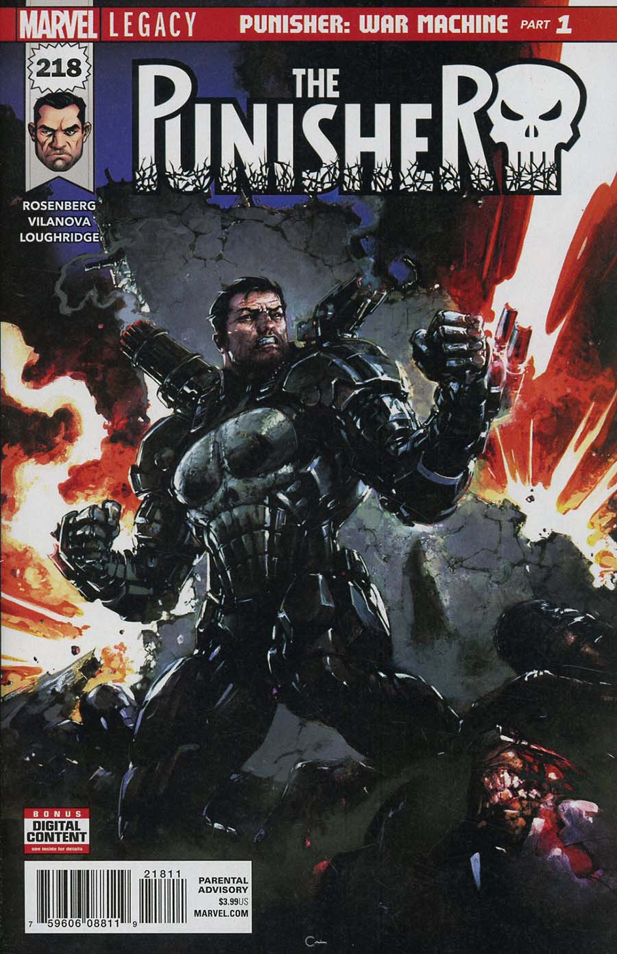 Punisher Vol 10 #218 Cover A 1st Ptg Regular Clayton Crain Cover (Marvel Legacy Tie-In)
