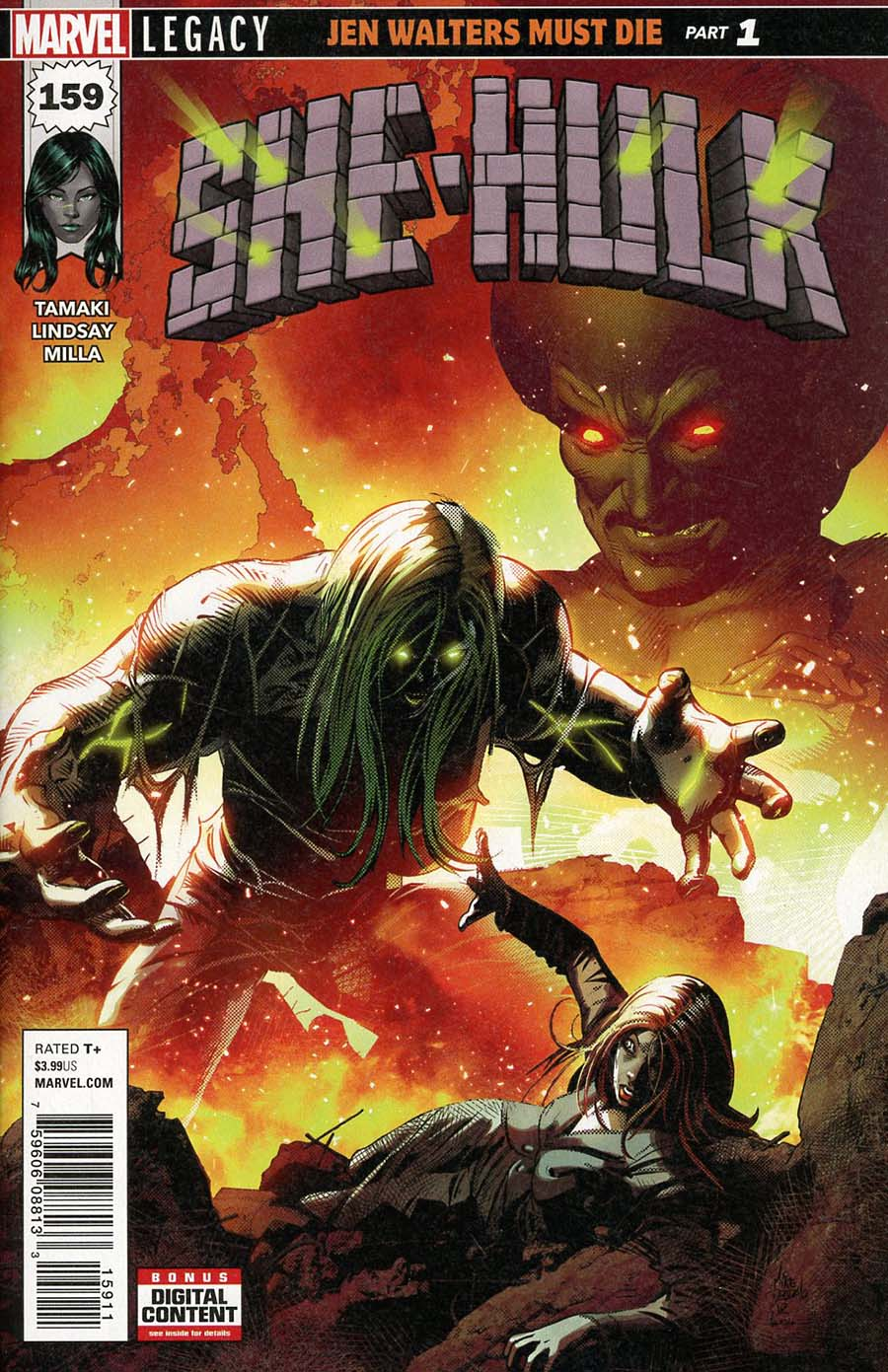 She-Hulk Vol 3 #159 Cover A 1st Ptg Regular Mike Deodato Jr Cover (Marvel Legacy Tie-In)