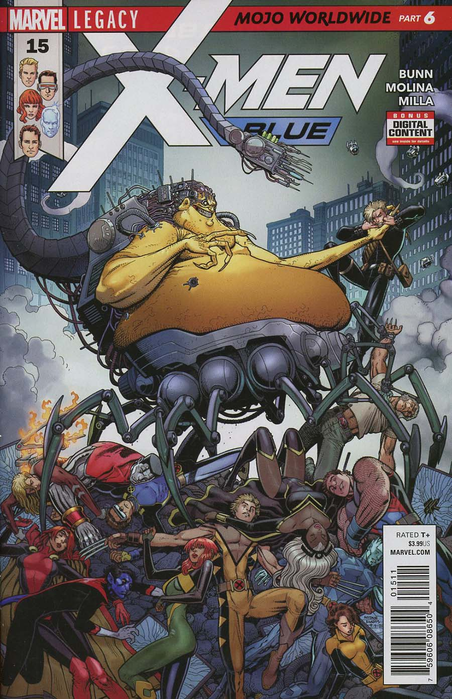 X-Men Blue #15 (Mojo Worldwide Part 6)(Marvel Legacy Tie-In)