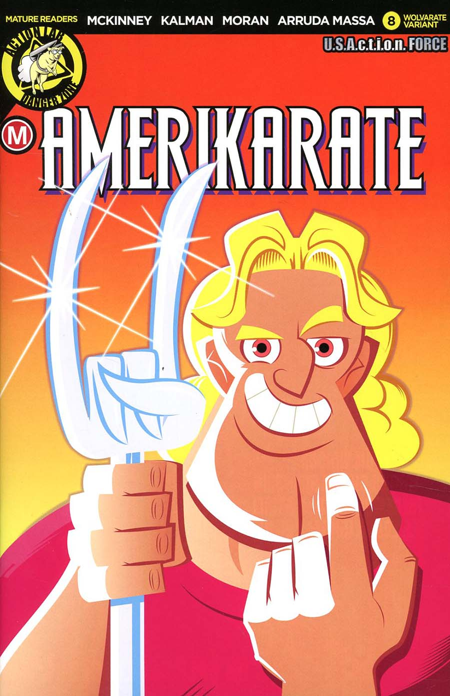 Amerikarate #8 Cover D Variant Dave Perillo Wolvarate Cover