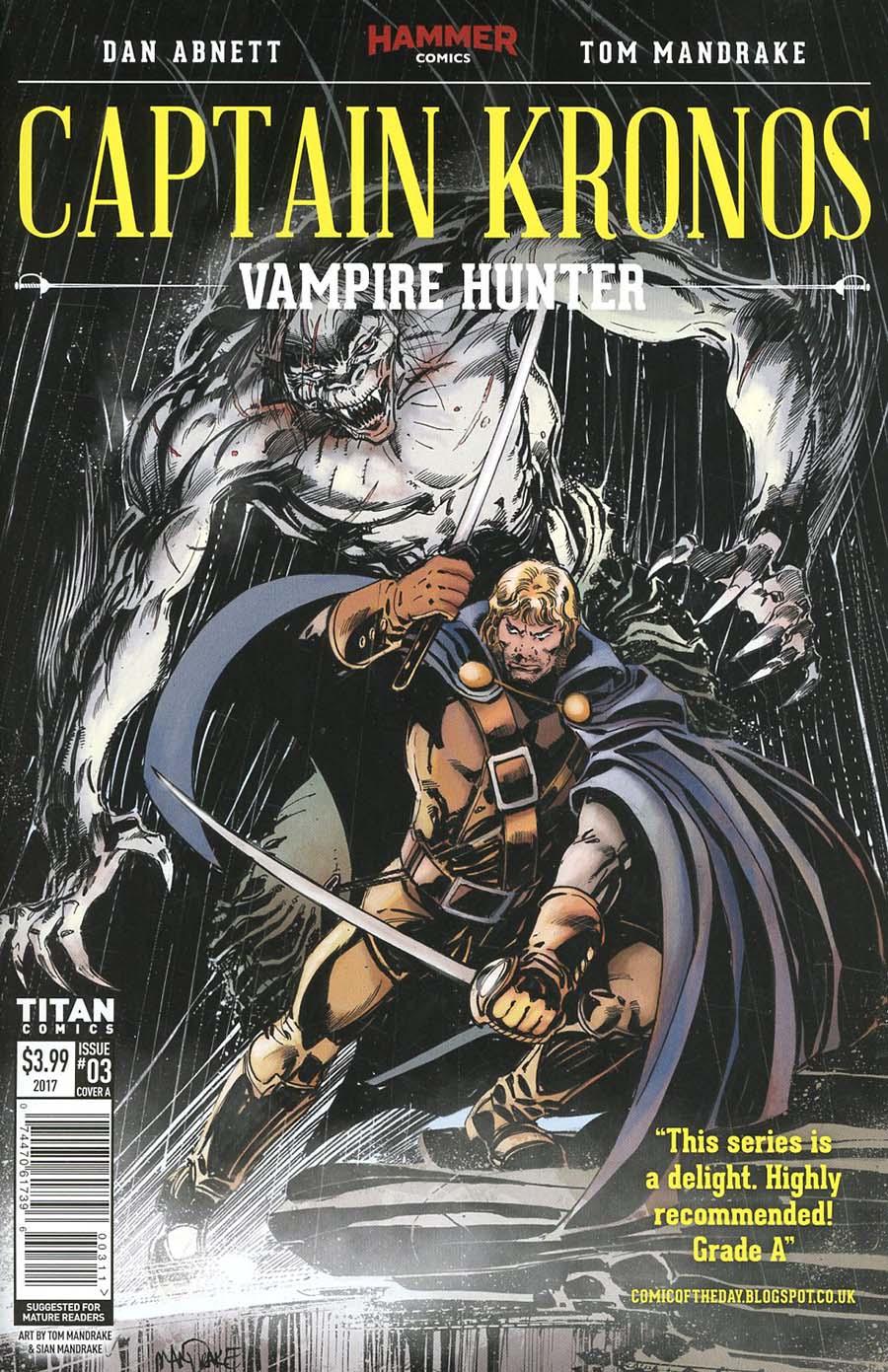 Hammer Comics Captain Kronos Vampire Hunter #3 Cover A Regular Tom Mandrake Cover