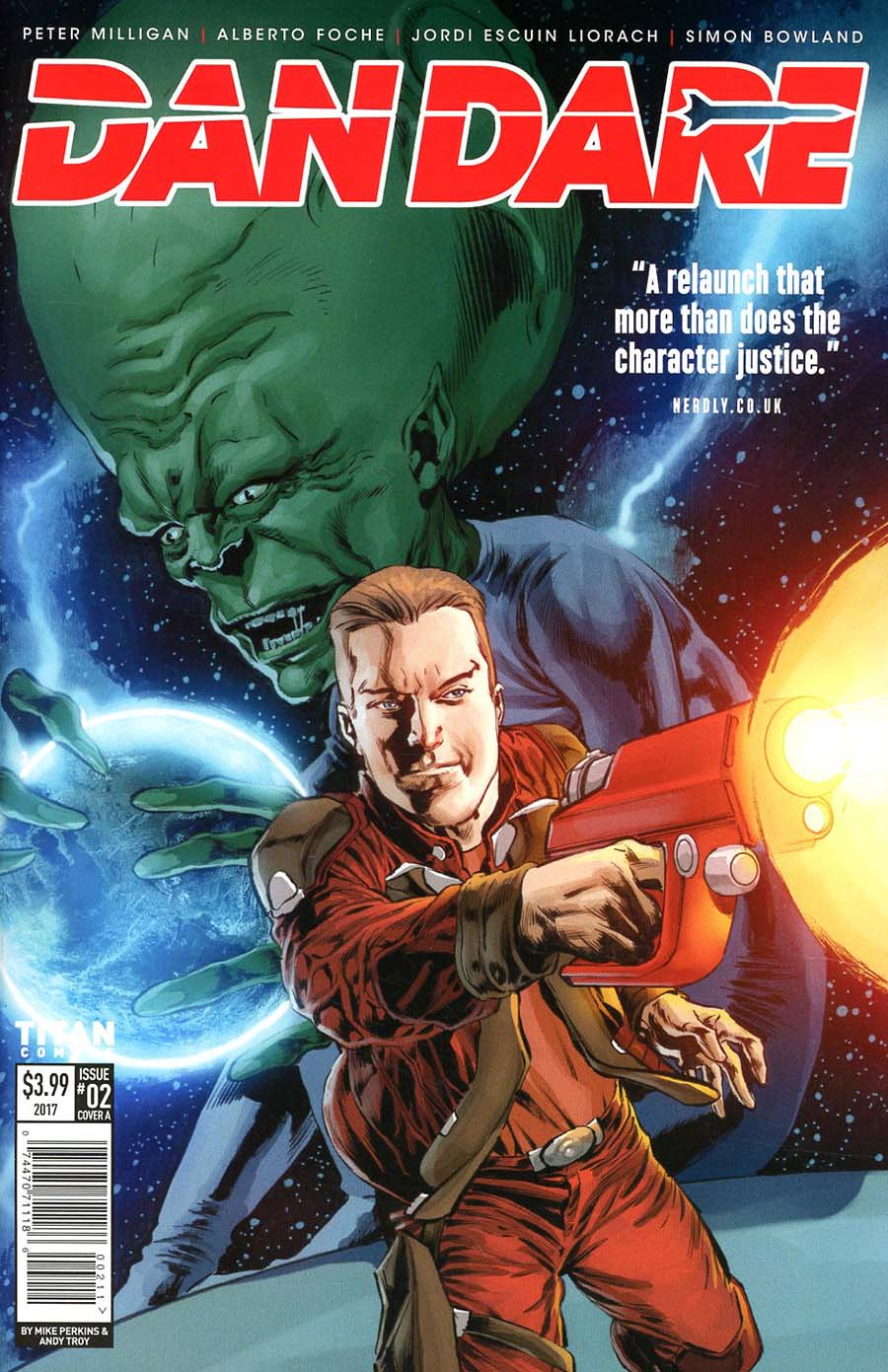 Dan Dare Vol 2 #2 Cover A Regular Mike Perkins Cover