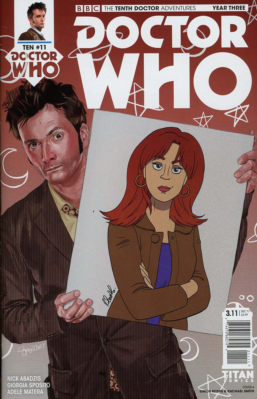 Doctor Who 10th Doctor Year Three #11 Cover A Regular Simon Myers & Rachael Smith Cover