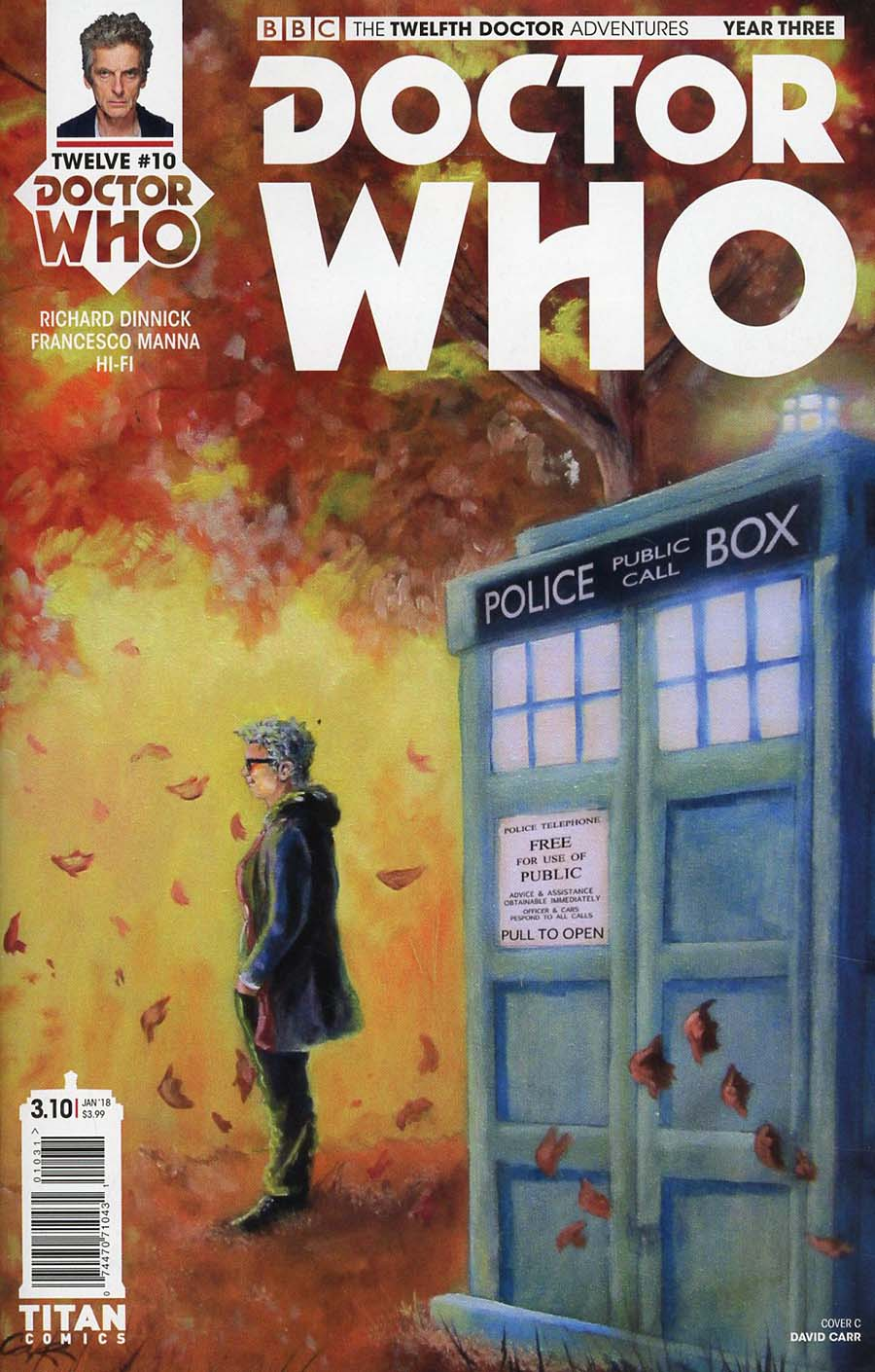 Doctor Who 12th Doctor Year Three #10 Cover C Variant David Carr Seasons Cover