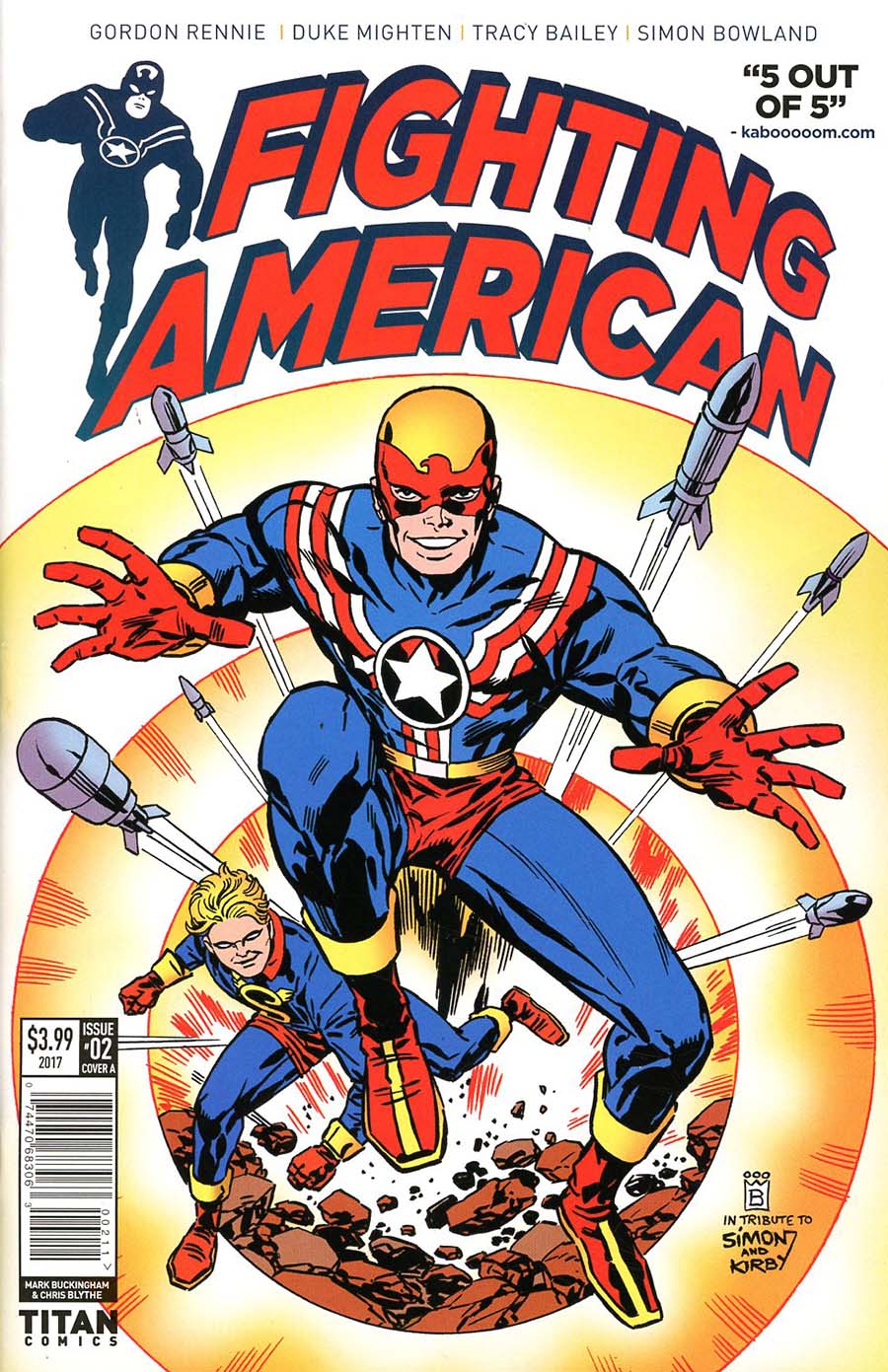 Fighting American Vol 4 #2 Cover A Regular Mark Buckingham Cover