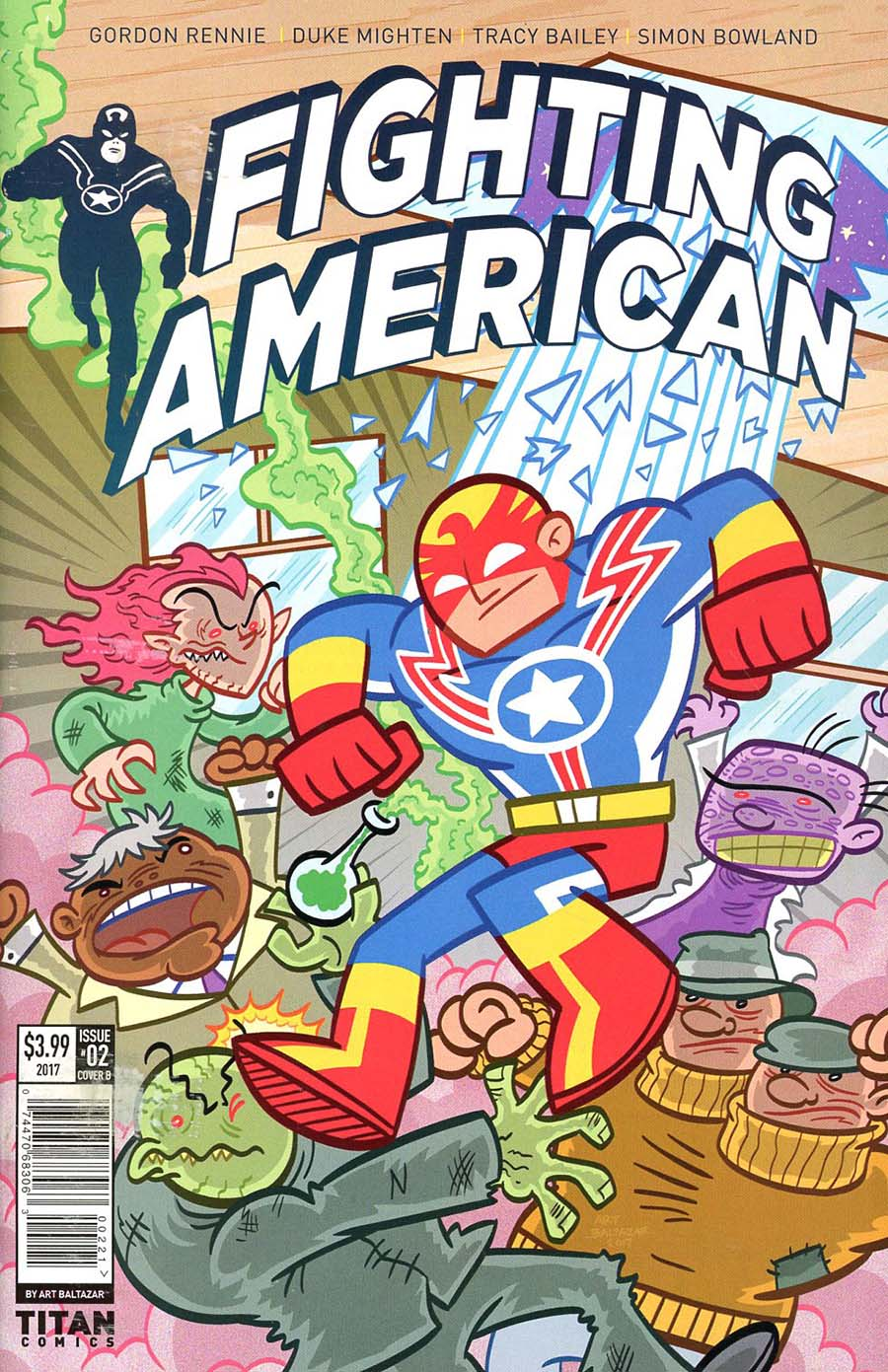 Fighting American Vol 4 #2 Cover B Variant Art Baltazar Cover