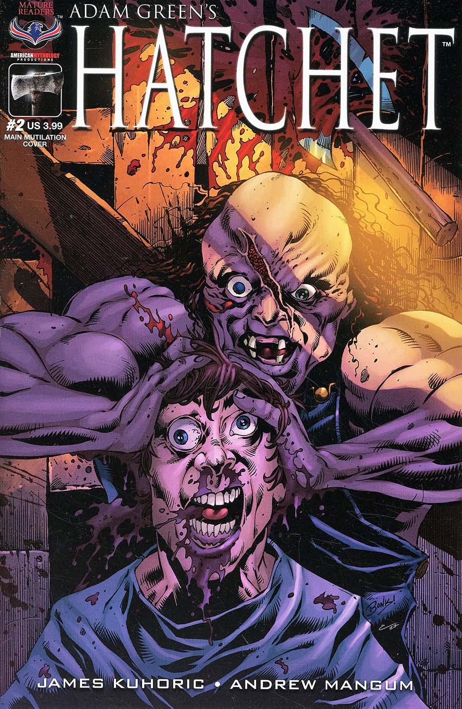 Adam Greens Hatchet #2 Cover A Regular Richard Bonk Mutilation Cover