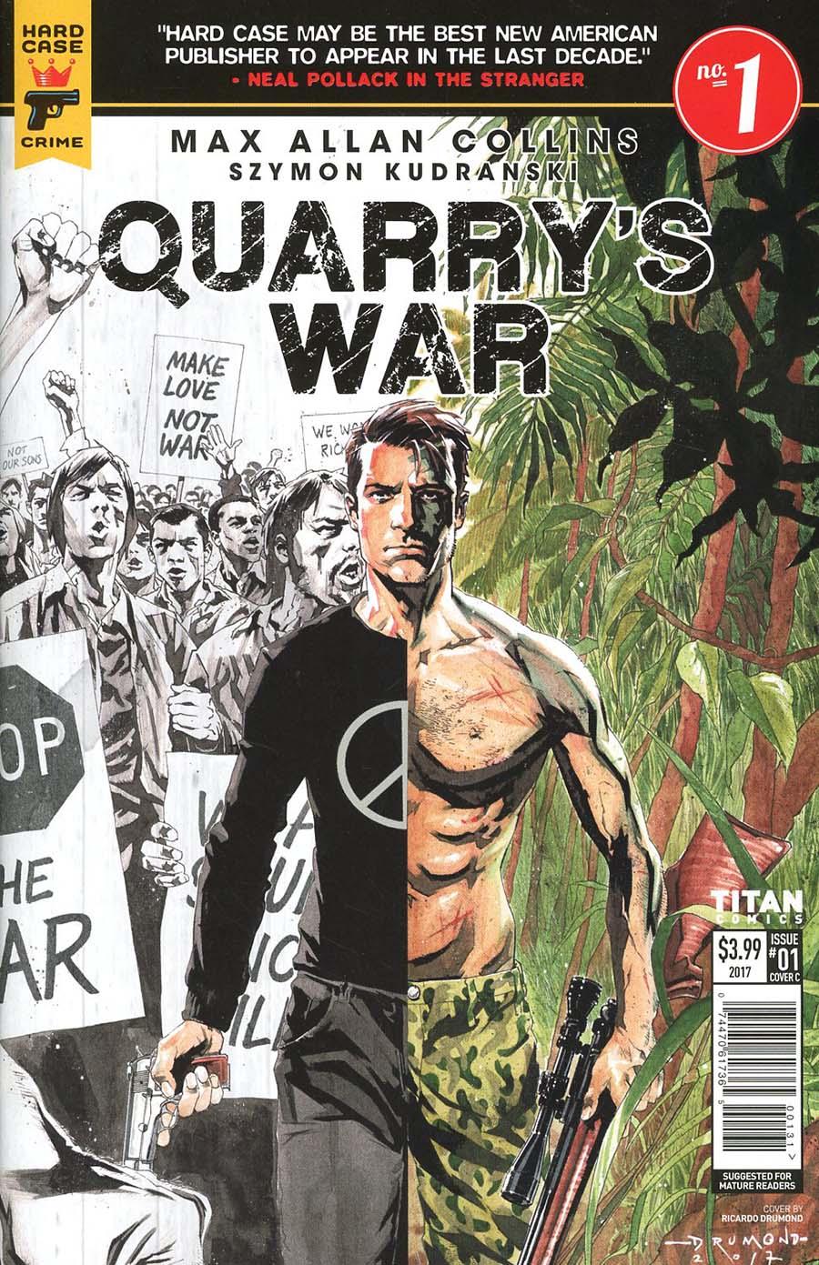 Hard Case Crime Quarrys War #1 Cover C Variant Ricardo Drummond Cover