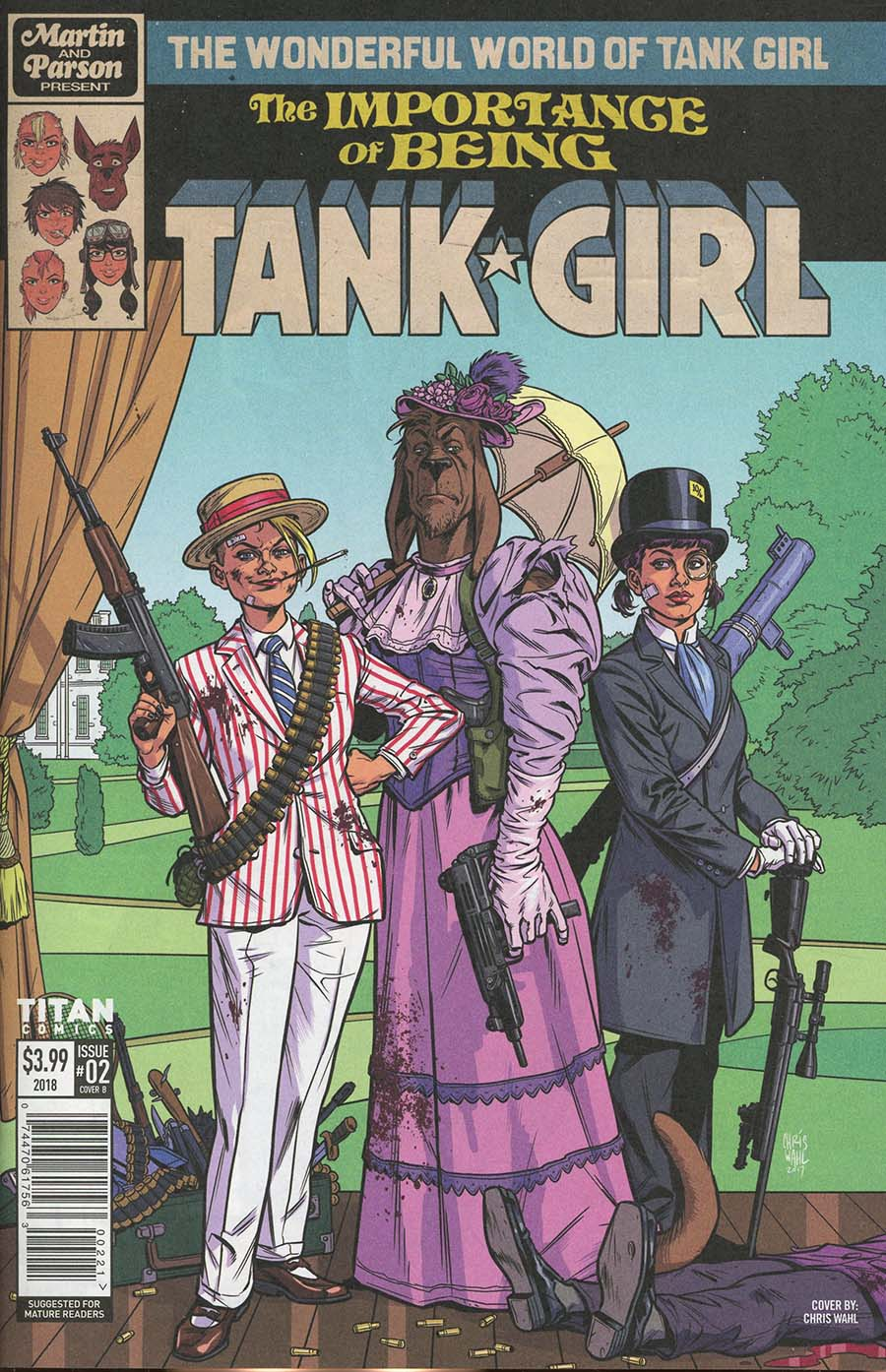 Wonderful World Of Tank Girl #2 Cover B Variant Chris Wahl Cover
