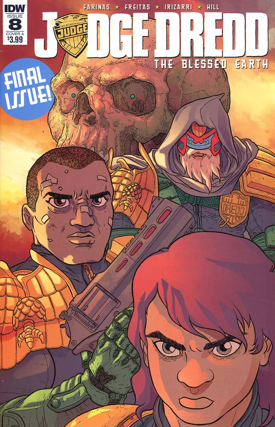 Judge Dredd Blessed Earth #8 Cover A Regular Ulises Farinas Cover
