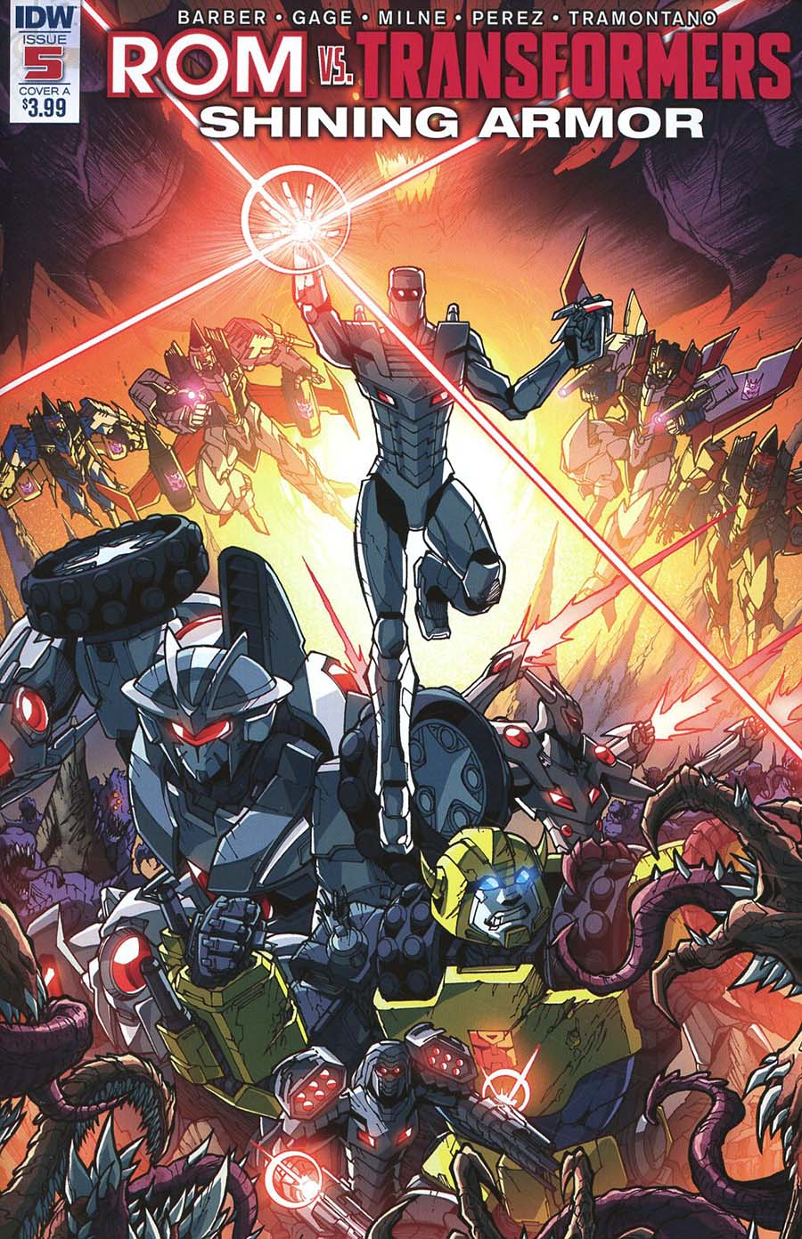 ROM vs Transformers Shining Armor #5 Cover A Regular Alex Milne Cover