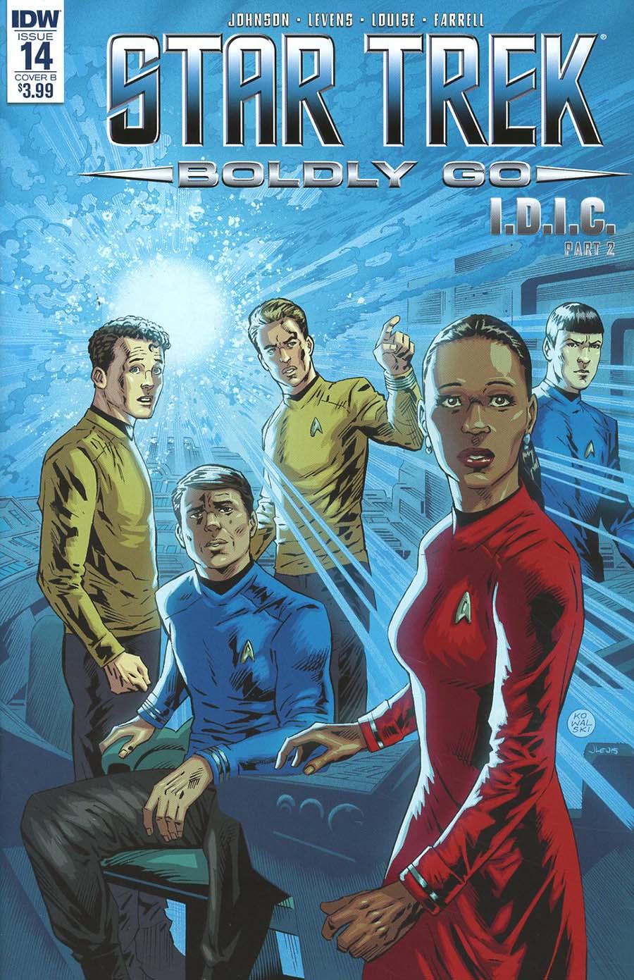 Star Trek Boldly Go #14 Cover B Variant Piotr Kowalski Cover
