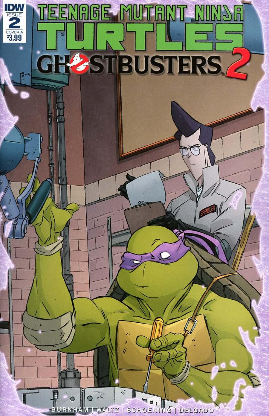 Teenage Mutant Ninja Turtles Ghostbusters II #2 Cover A Regular Dan Schoening Cover