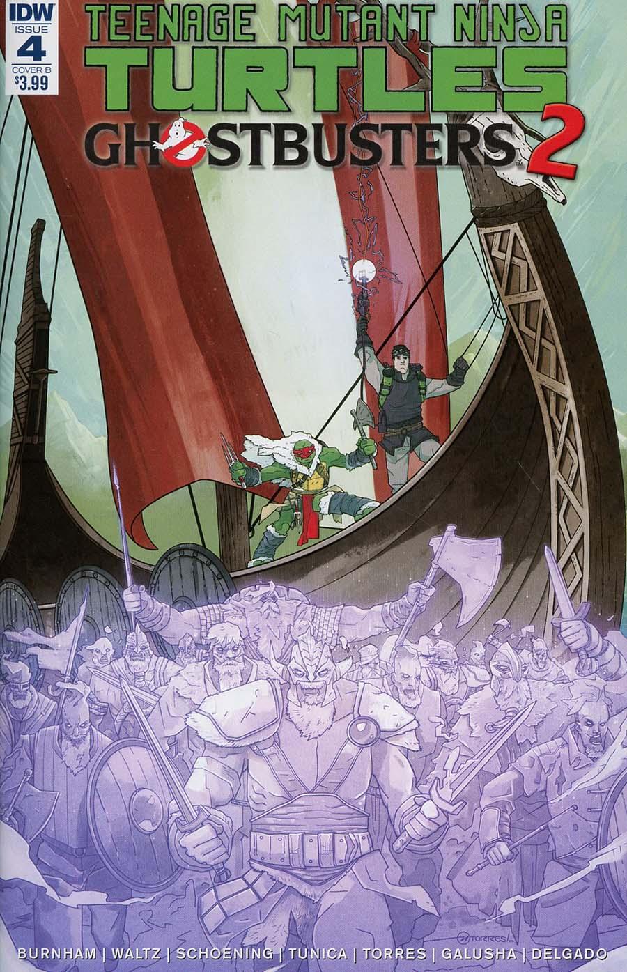 Teenage Mutant Ninja Turtles Ghostbusters II #4 Cover B Variant Mark Torres Cover