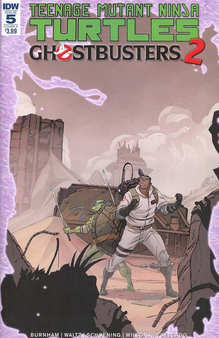 Teenage Mutant Ninja Turtles Ghostbusters II #5 Cover A Regular Dan Schoening Cover