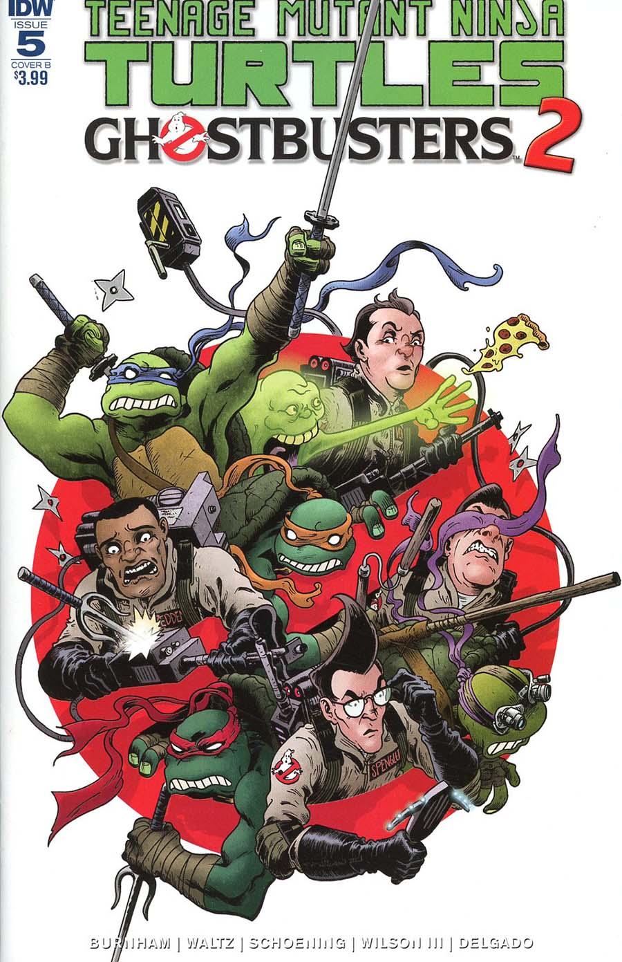 Teenage Mutant Ninja Turtles Ghostbusters II #5 Cover B Variant Charles Paul Wilson III Cover