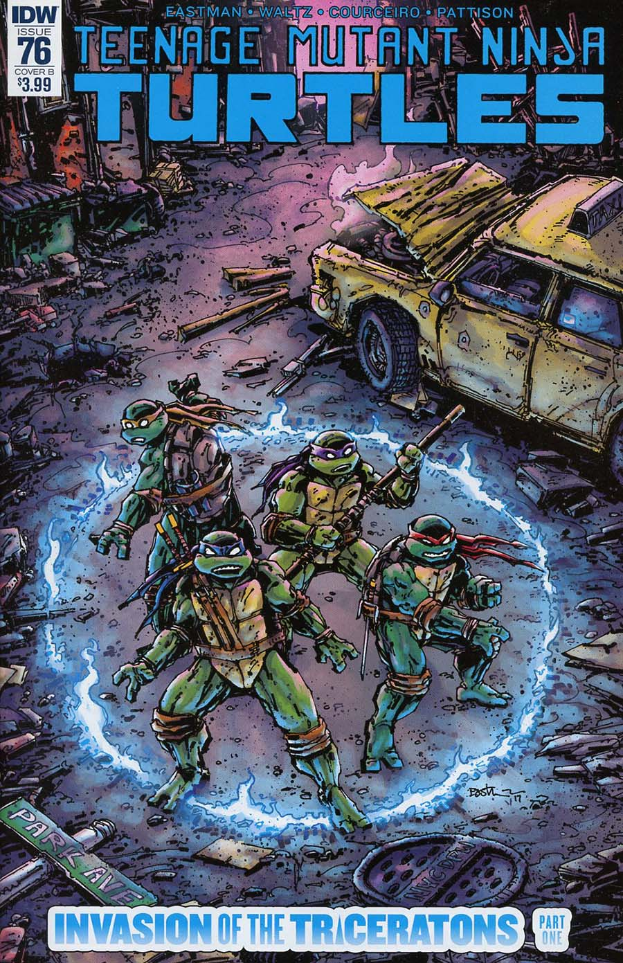 Teenage Mutant Ninja Turtles Vol 5 #76 Cover B Variant Kevin Eastman Cover