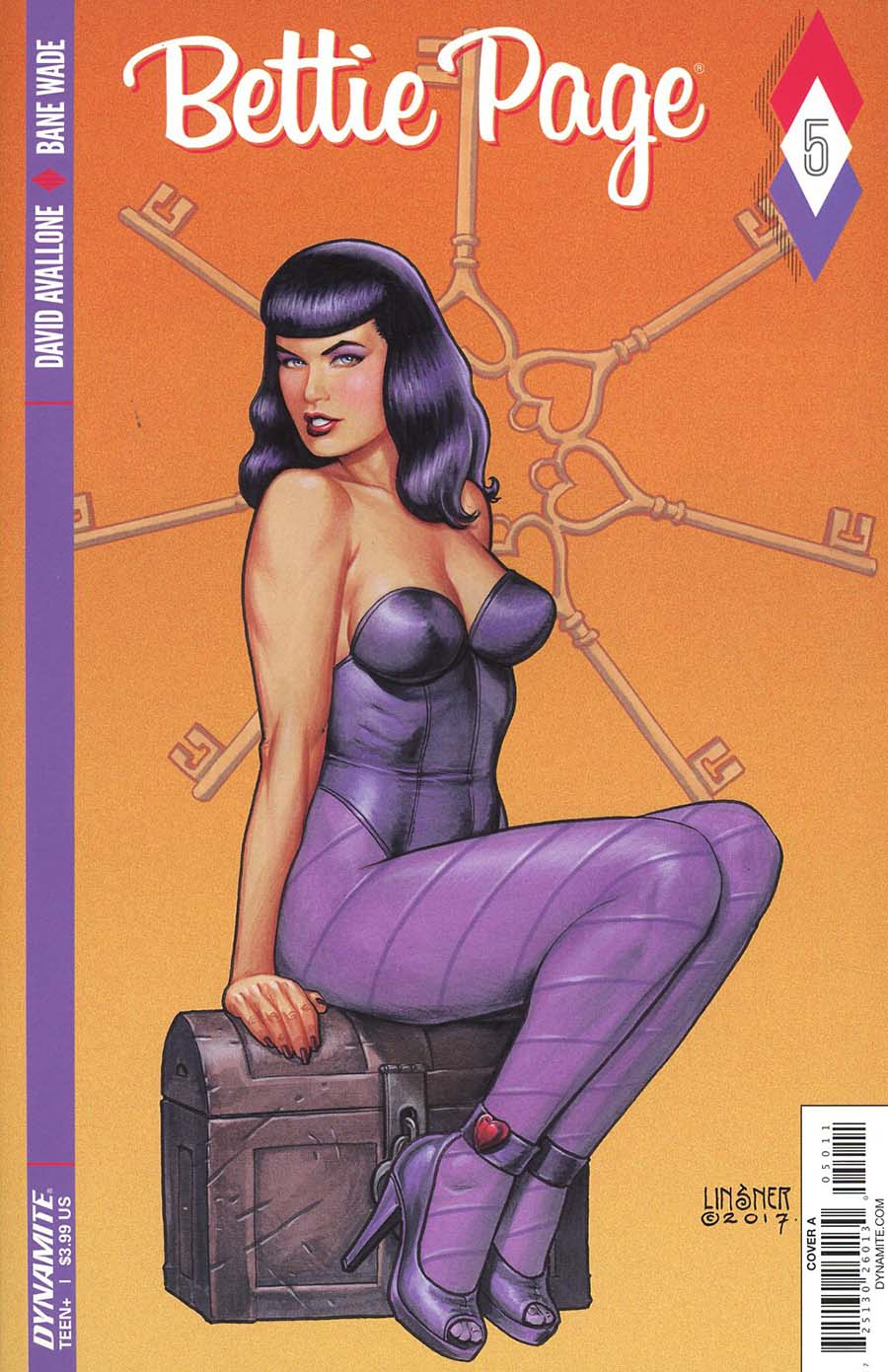 Bettie Page #5 Cover A Regular Joseph Michael Linsner Cover