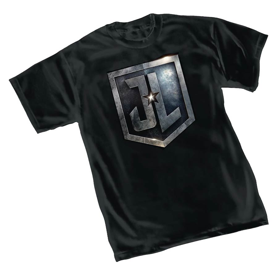Justice League Movie Shield T-Shirt Large