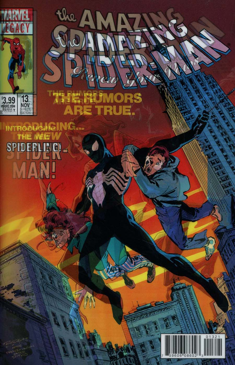 Amazing Spider-Man Renew Your Vows Vol 2 #13 Cover B Variant Khary Randolph Lenticular Homage Cover (Marvel Legacy Tie-In)