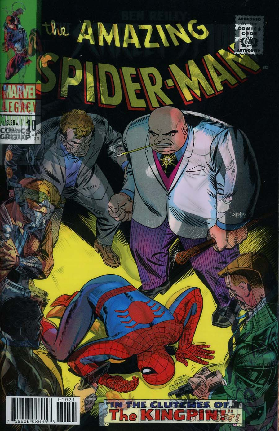 Ben Reilly The Scarlet Spider #10 Cover B Variant Dan Mora Lenticular Homage Cover (Marvel Legacy Tie-In)