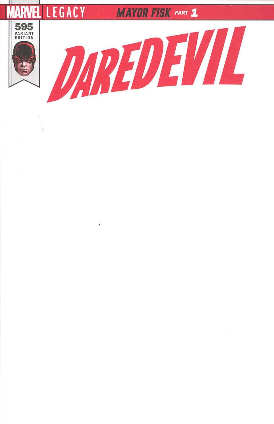 Daredevil Vol 5 #595 Cover C Variant Blank Cover (Marvel Legacy Tie-In)