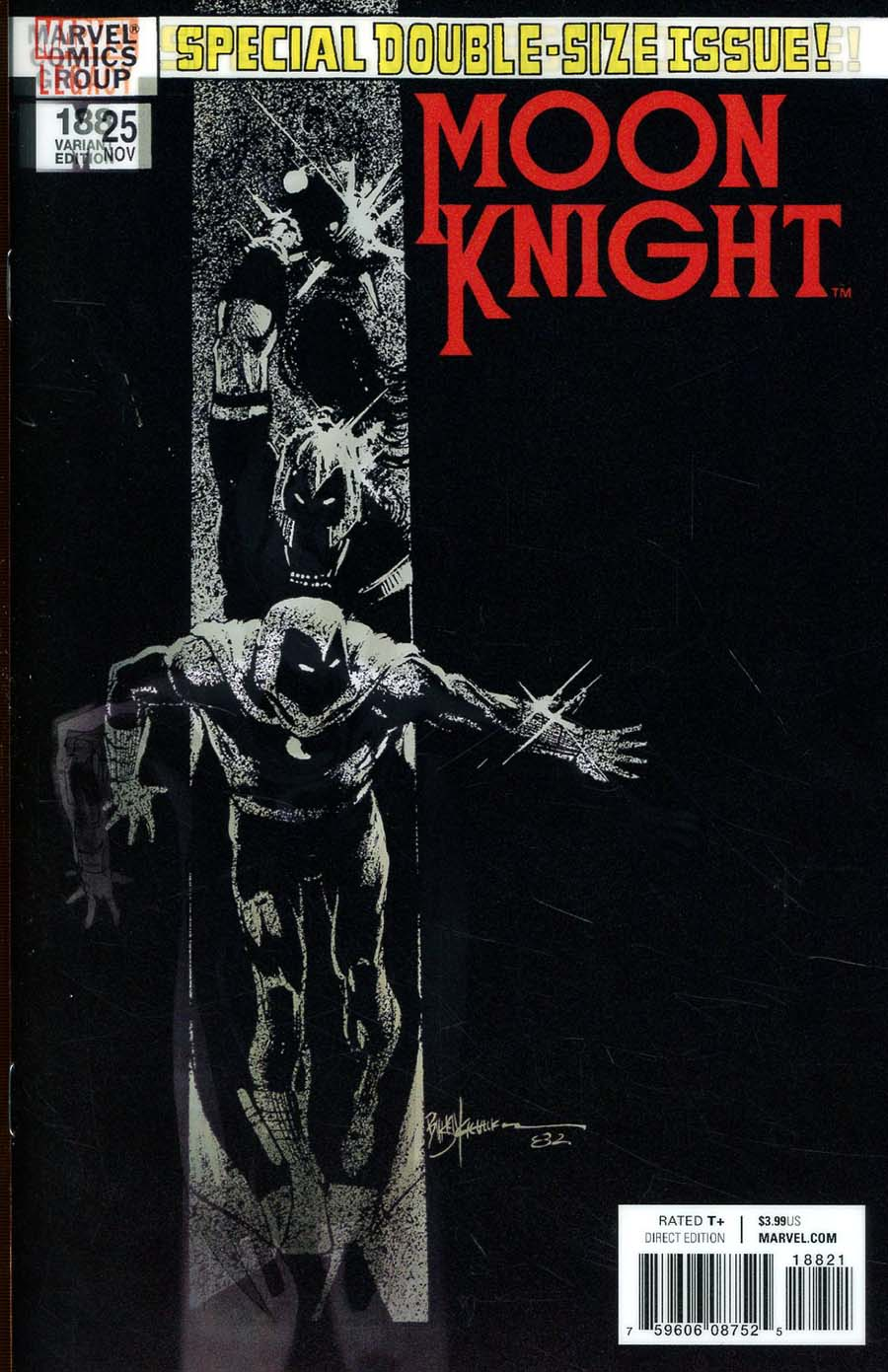 Moon Knight Vol 8 #188 Cover B Variant Bill Sienkiewicz Lenticular Homage Cover (Marvel Legacy Tie-In)