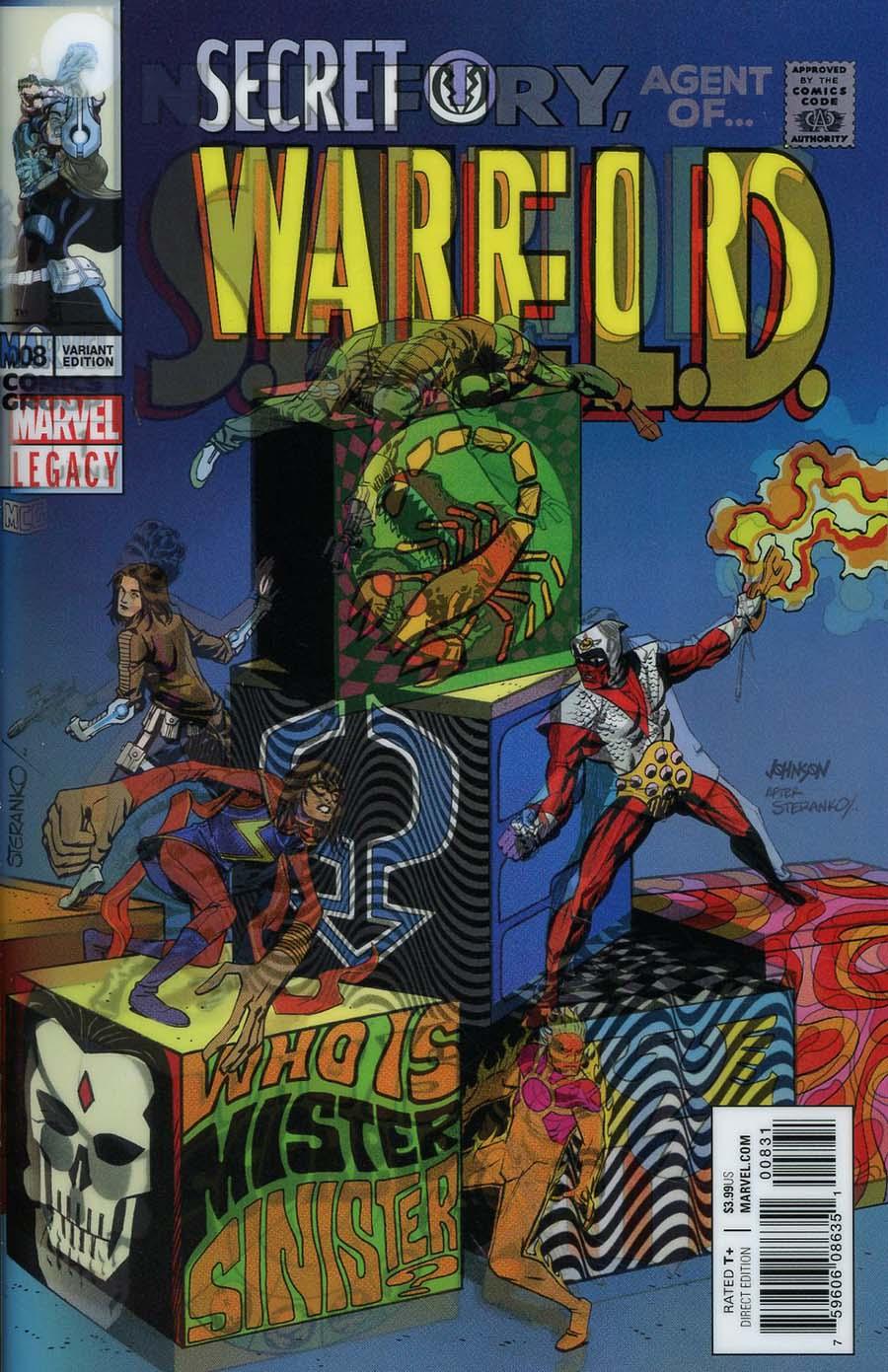 Secret Warriors Vol 2 #8 Cover B Variant Dave Johnson Lenticular Homage Cover (Marvel Legacy Tie-In)