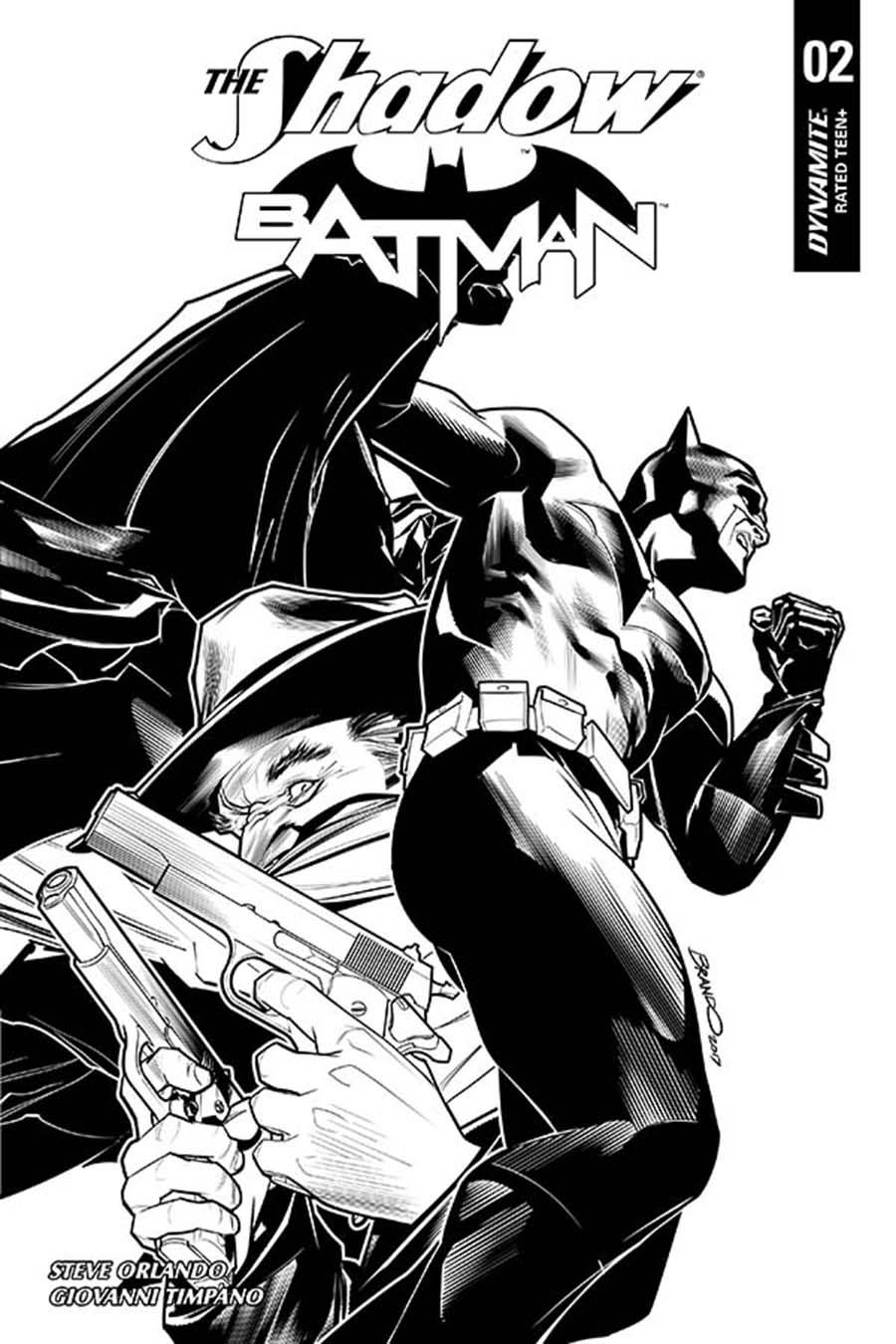 Shadow Batman #2 Cover I Incentive Brandon Peterson Black & White Cover