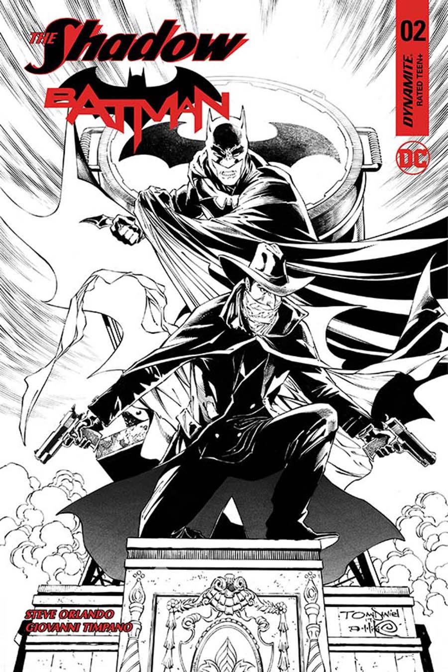 Shadow Batman #2 Cover J Incentive Tony S Daniel Black & White Cover