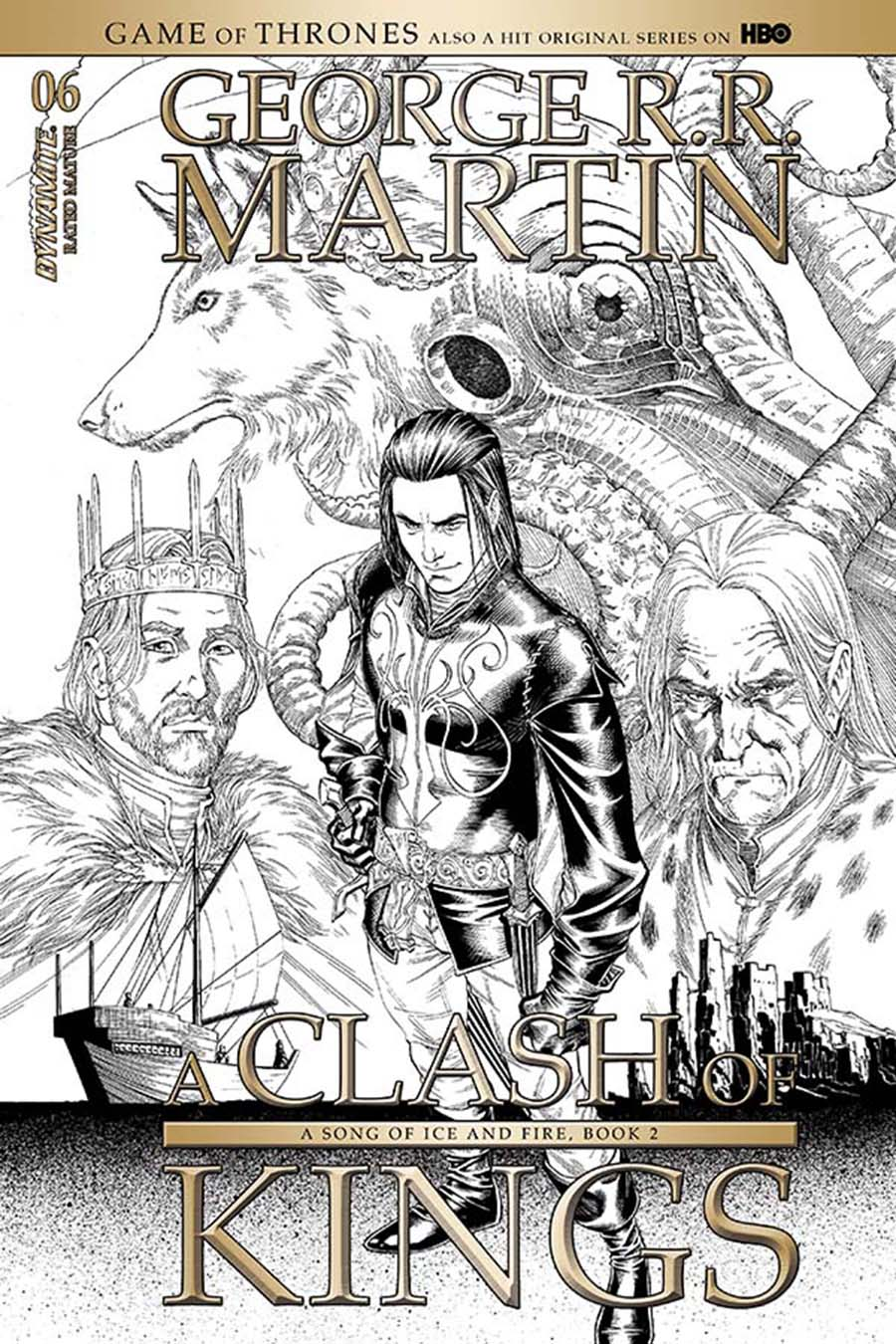 Game Of Thrones Clash Of Kings #6 Cover C Incentive Mike Miller Black & White Cover
