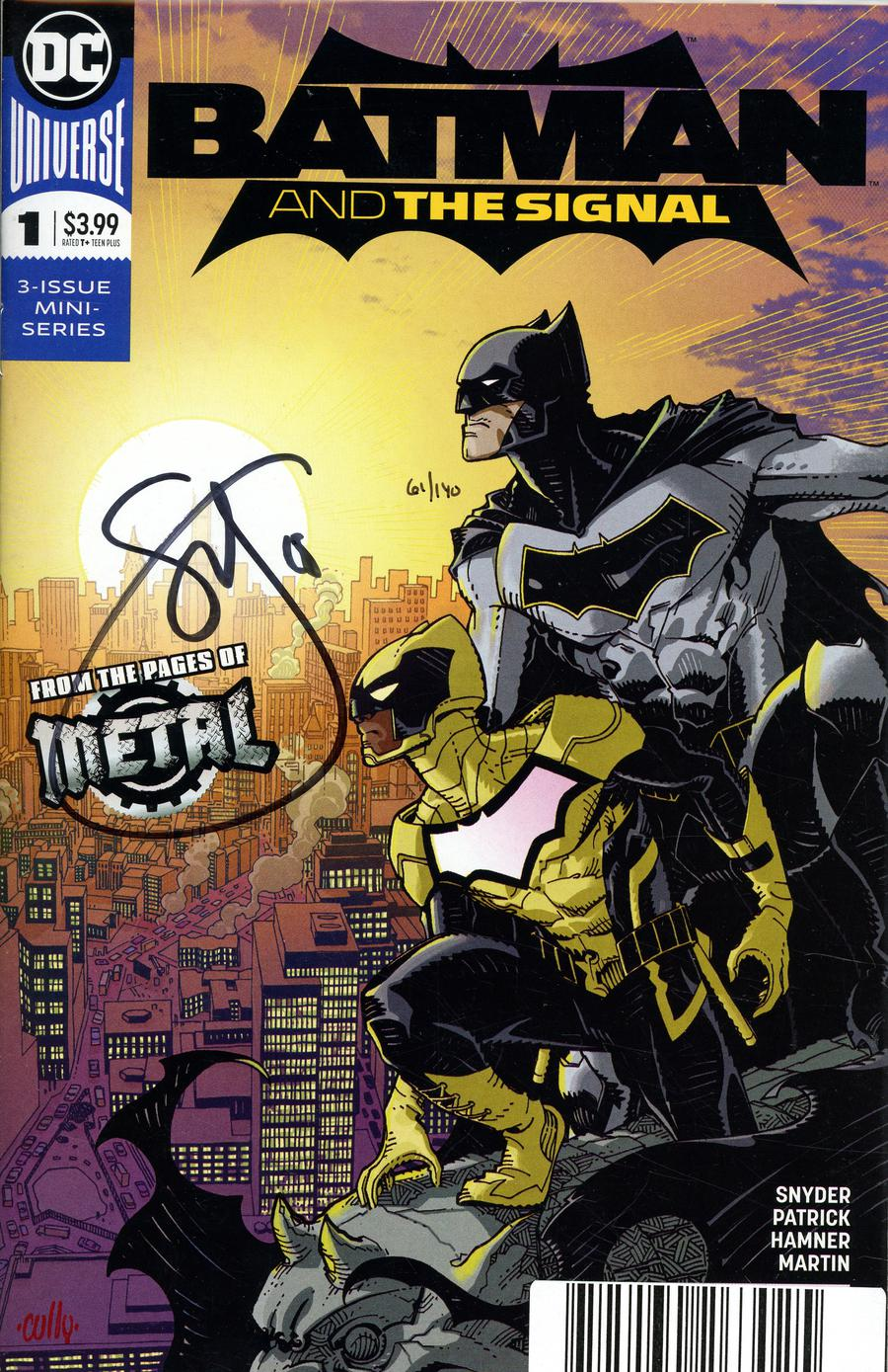 Batman And The Signal #1 Cover C DF Signed By Scott Snyder