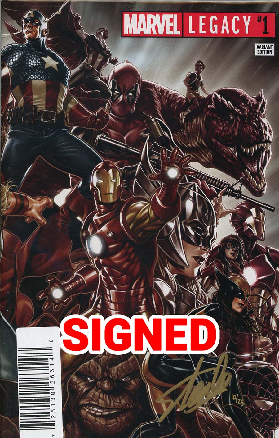 Marvel Legacy #1 Cover R DF Ultra-Limited Wraparound Variant Elite Gold Signature Series Signed By Stan Lee