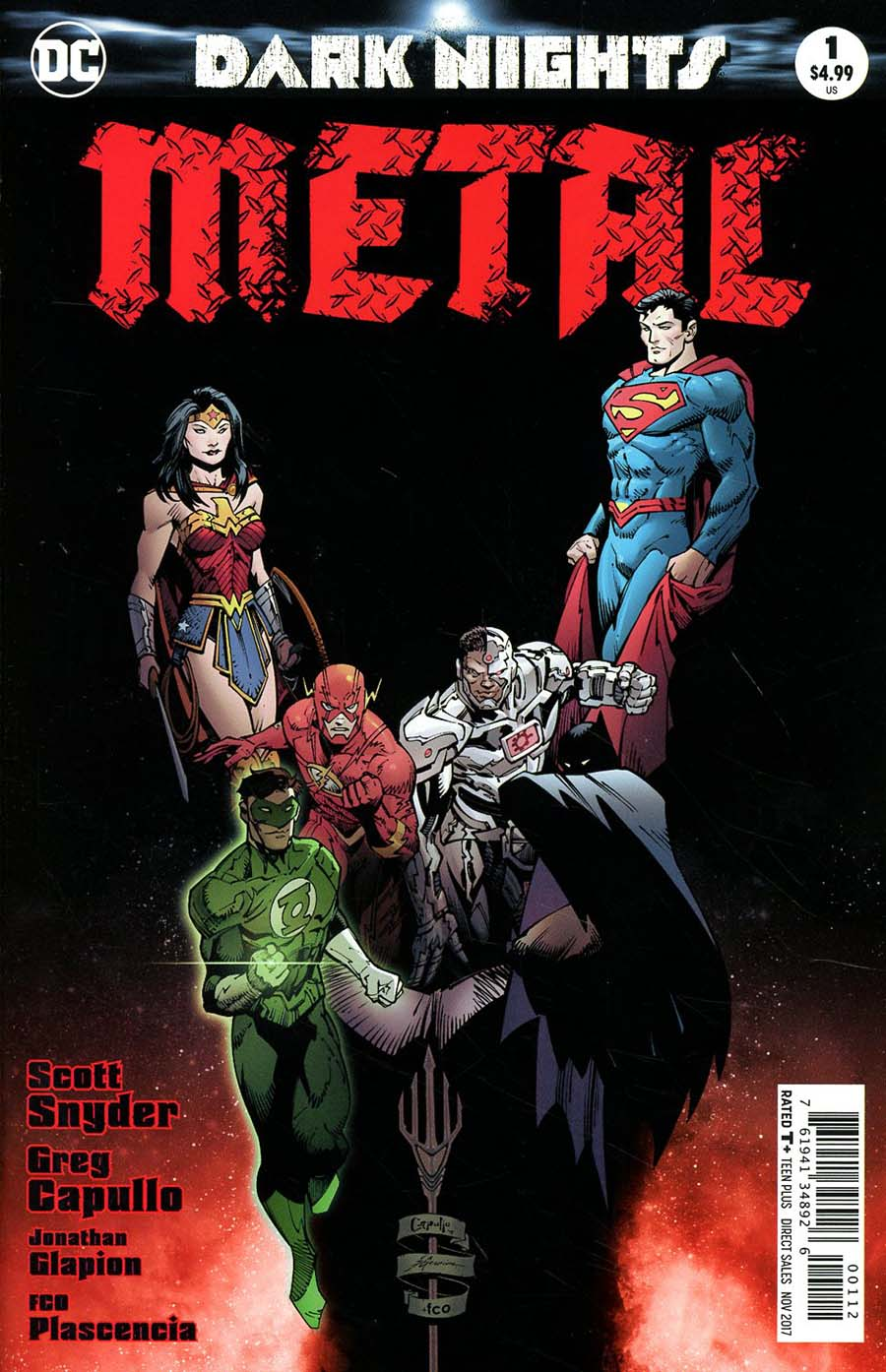 Dark Nights Metal #1 Cover M 2nd Ptg Greg Capullo Variant Cover