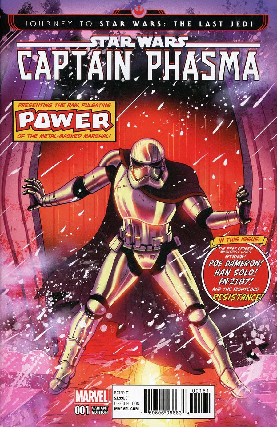 Journey To Star Wars The Last Jedi Captain Phasma #1 Cover G Incentive Paulina Ganucheau Homage Variant Cover