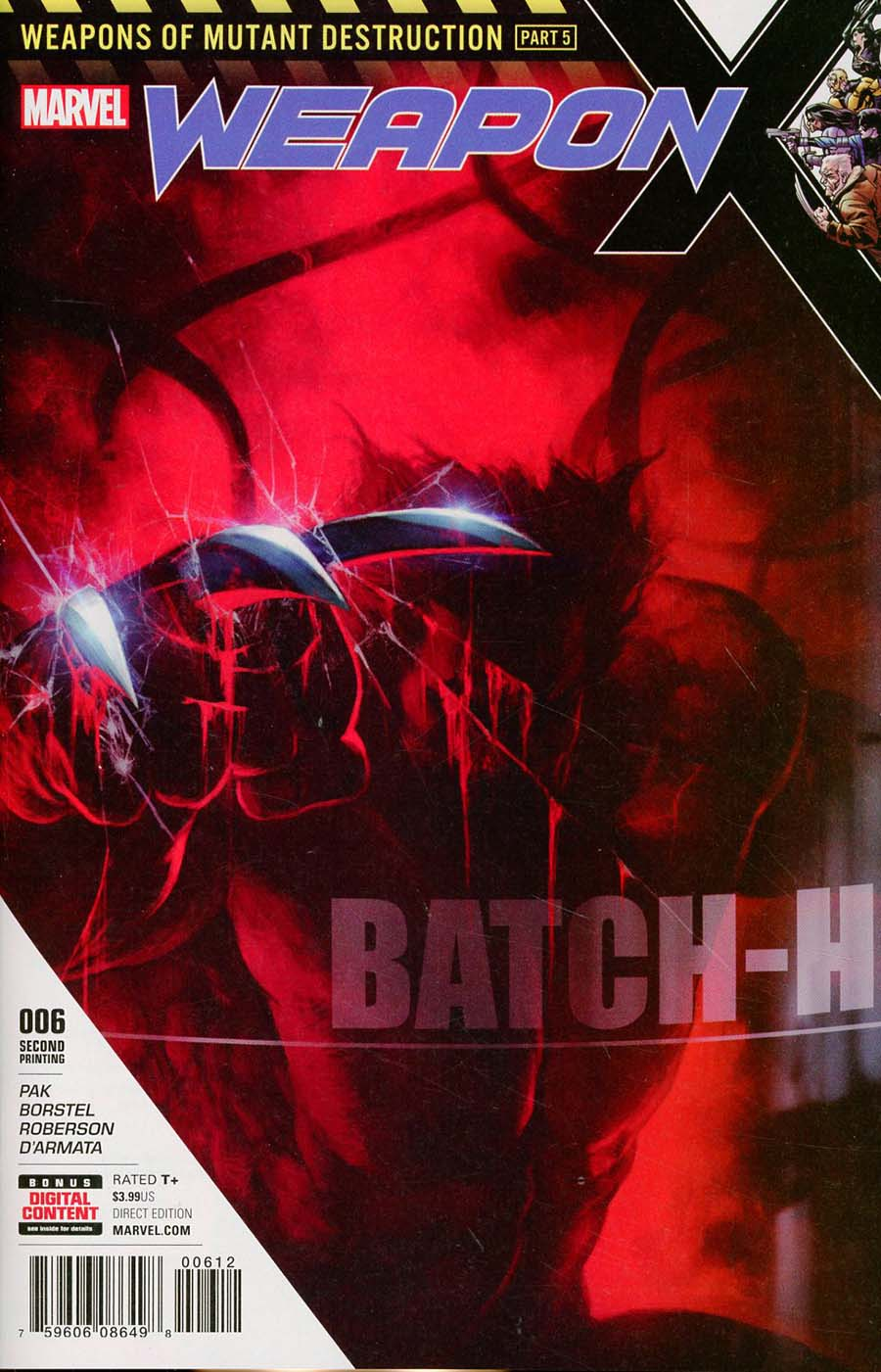 Weapon X Vol 3 #6 Cover B 2nd Ptg Skan Variant Cover (Weapons Of Mutant Destruction Part 5)
