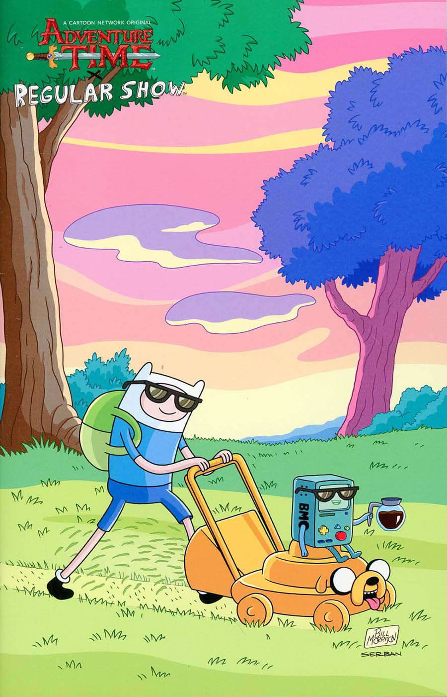 Adventure Time Regular Show #2 Cover D Incentive Bill Morrison Virgin Variant Cover