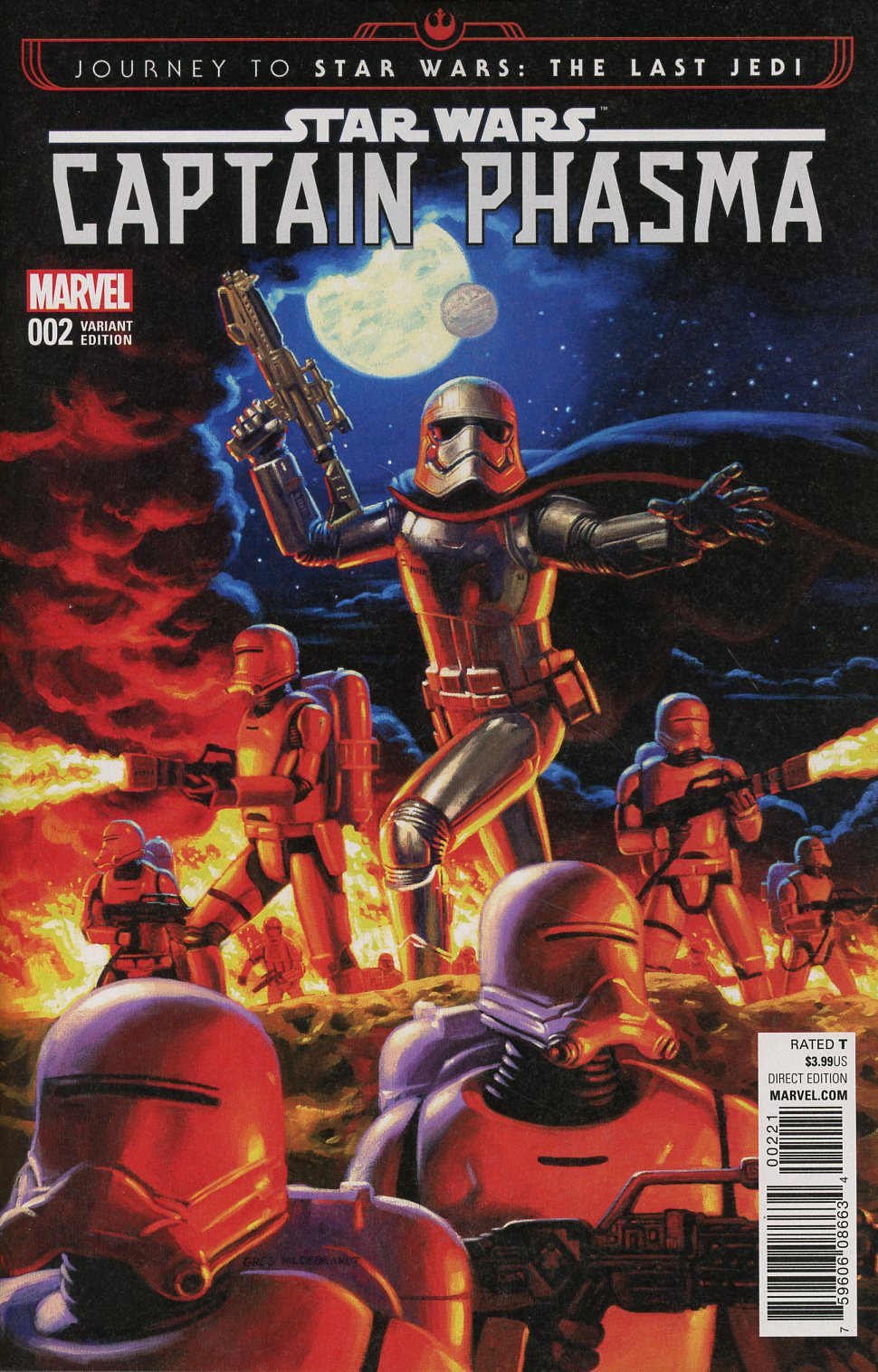 Journey To Star Wars The Last Jedi Captain Phasma #2 Cover D Incentive Greg Hildebrandt Variant Cover