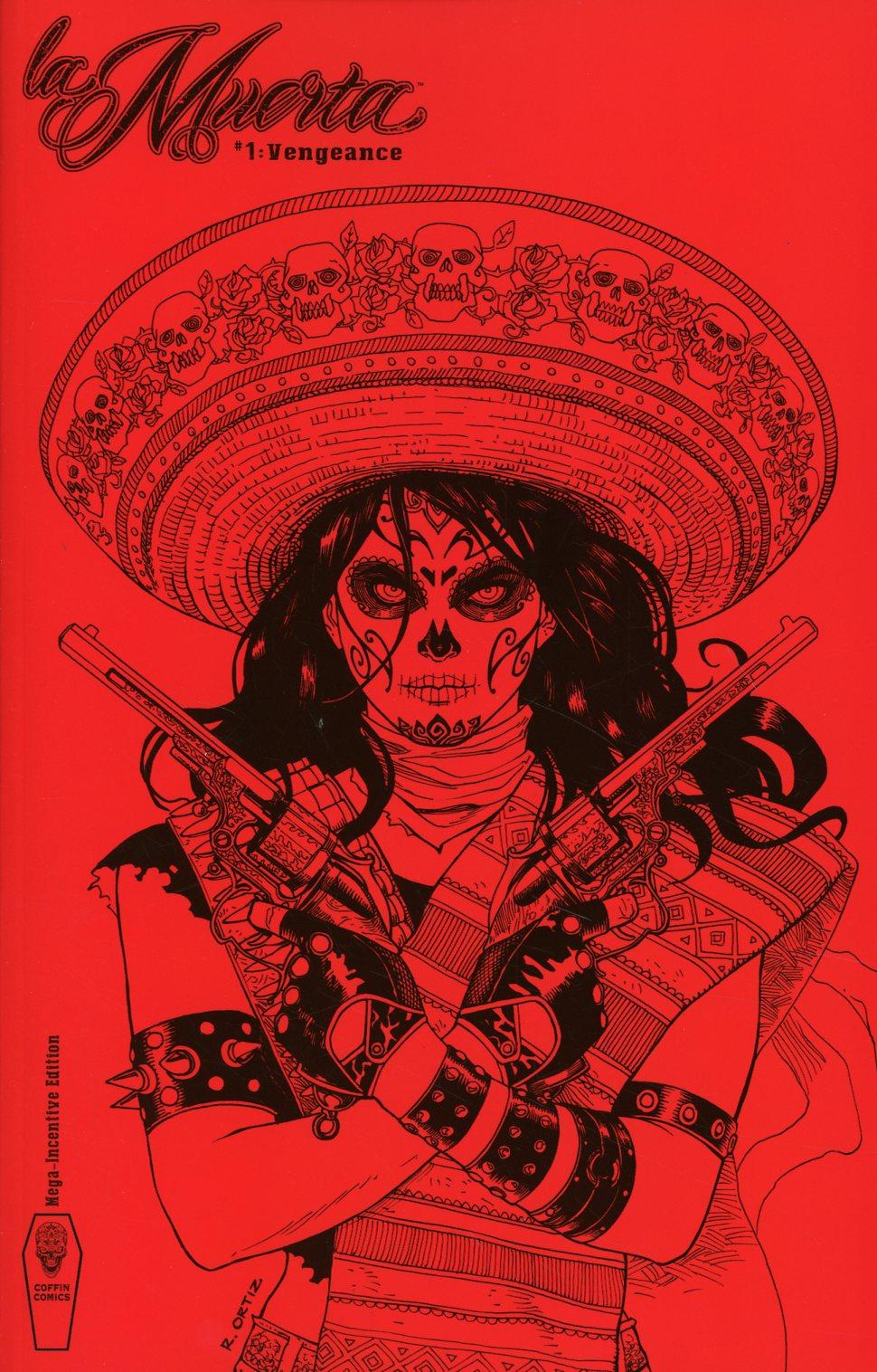 La Muerta Vengeance #1 Cover F Incentive Richard Ortiz Mega Red Variant Cover